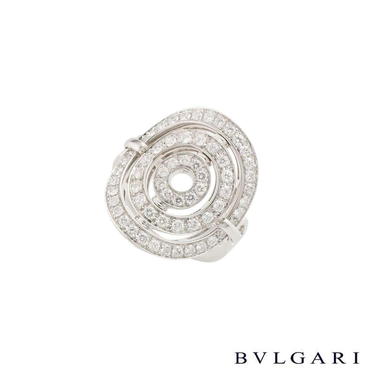 Bvlgari White Gold Diamond Astrale Ring